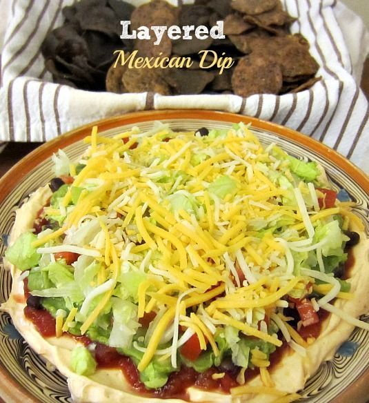 Layered Mexican Dip ~ If you have a large family you had better double the recipe for this Layered Mexican Dip because it's going to disappear very quickly, it's that delicious!