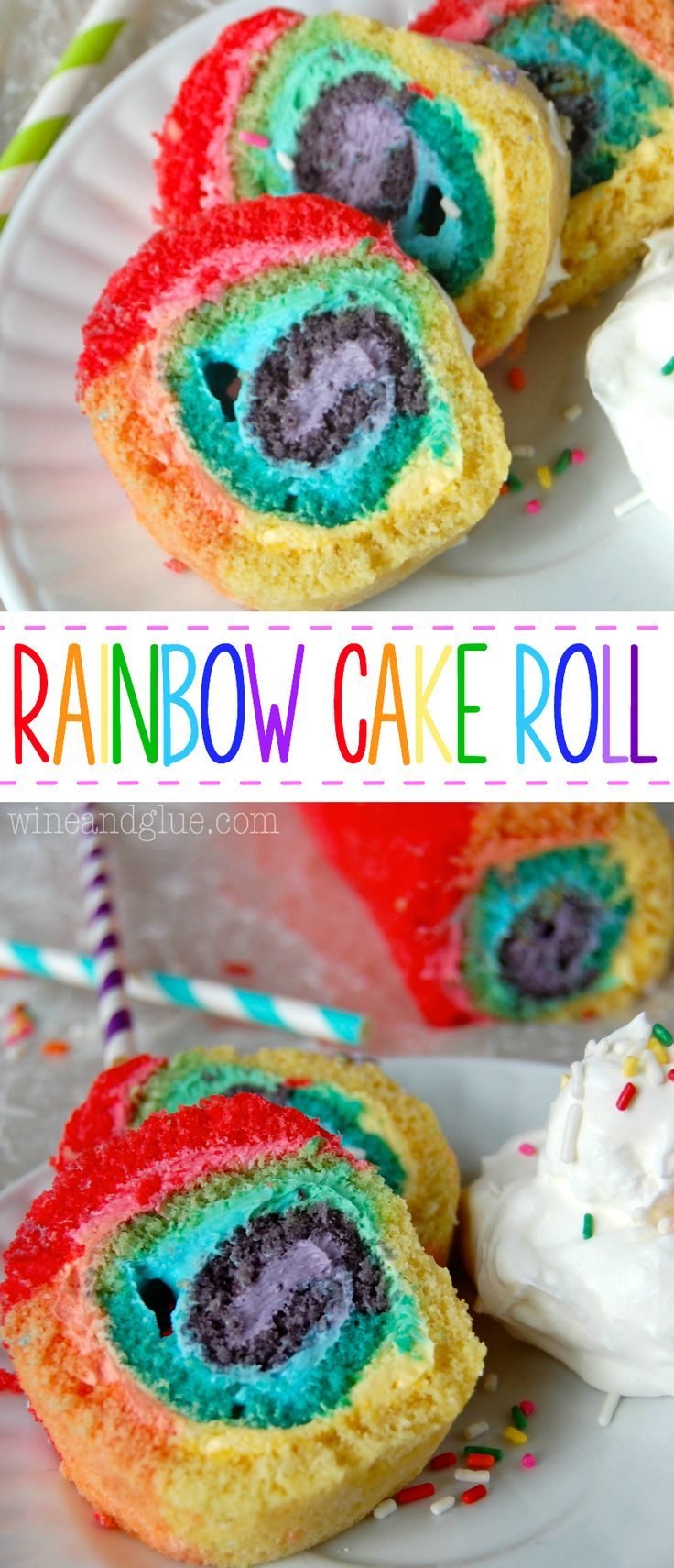 Rainbow Cake Roll! An easy recipe with a big wow factor!!