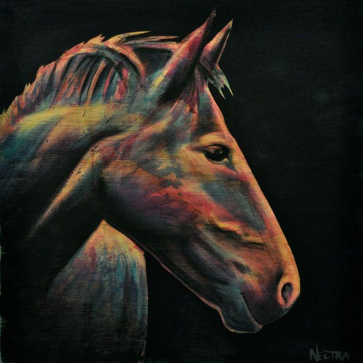 "Saatchi Art Artist: Max Neutra; Acrylic 2014 Painting ""Horse"""