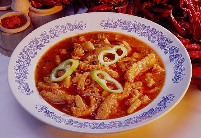 Pacalpörkölt (tripe and paprika stew)