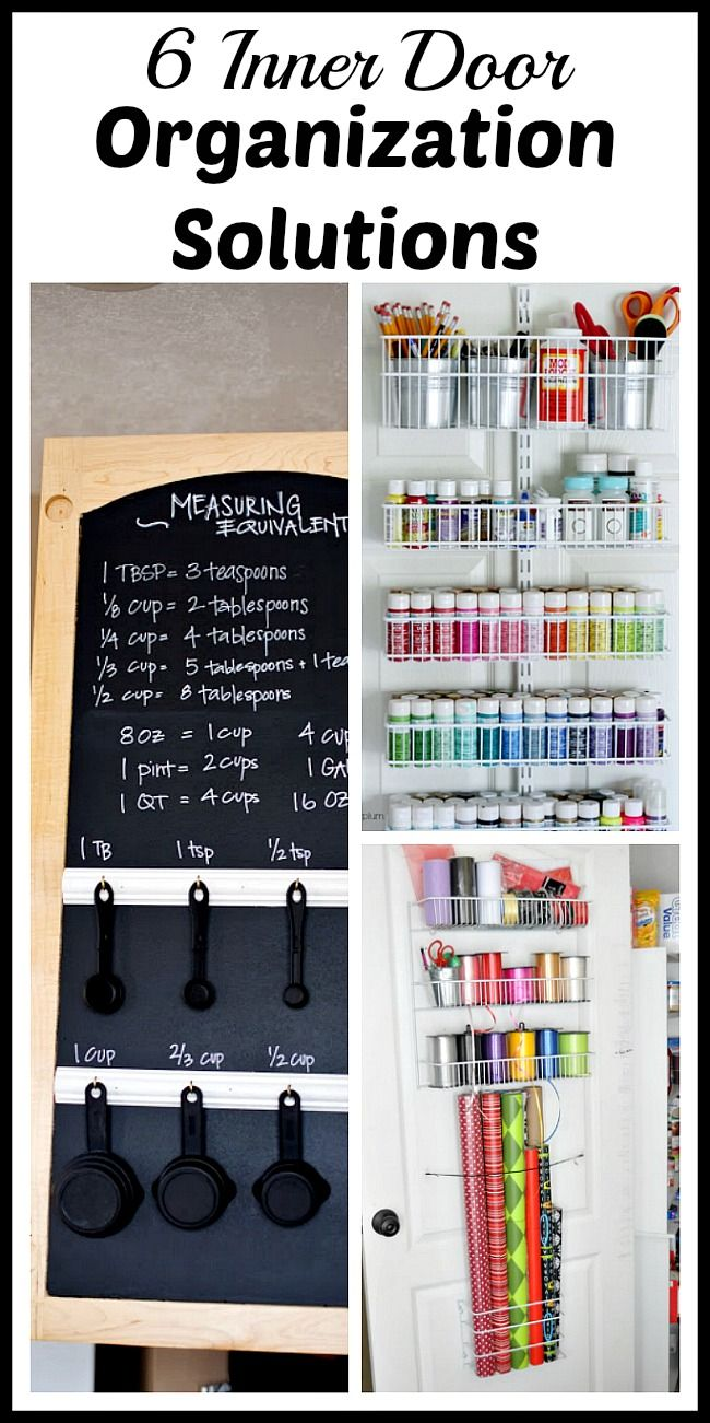 433 best home organisation and storage images on pinterest 6 clever inner door organization solutions workwithnaturefo