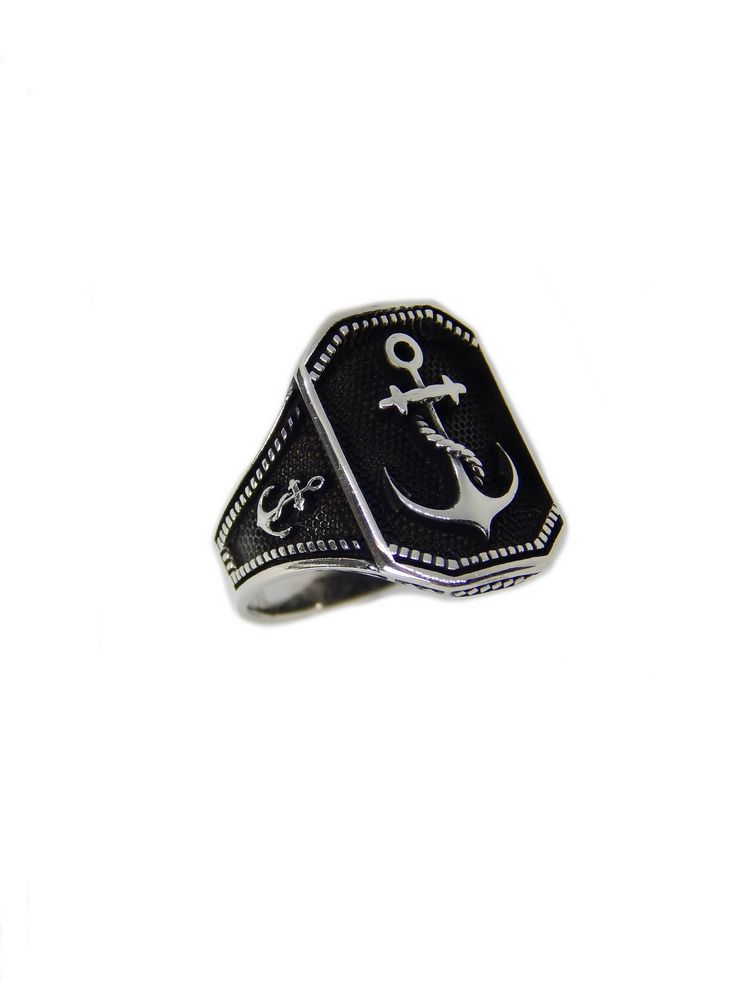Excited to share the latest addition to my #etsy shop: Man anchor ring http://etsy.me/2oOUeEE #jewelry #ring #nautical #silver #nauticalring #silverring #signetring #menring #anchorring