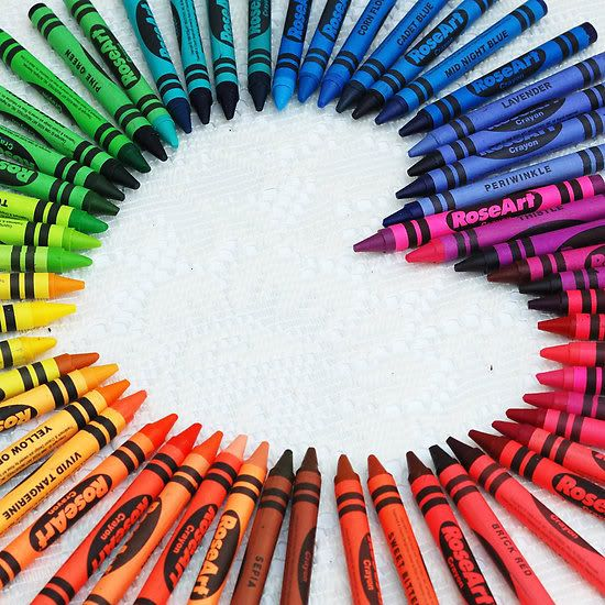 Kids love getting crayons and coloring books