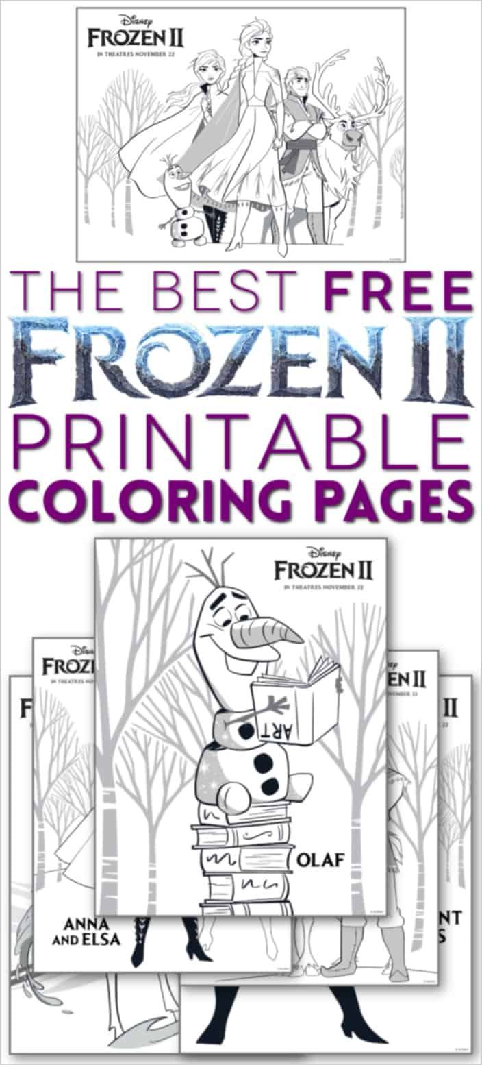 Free Frozen 2 Coloring Pages Print Them All Now Free Disney