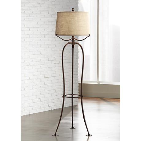 Ellerby Oil Rubbed Bronze 3 Leg Tripod Floor Lamp Living Room