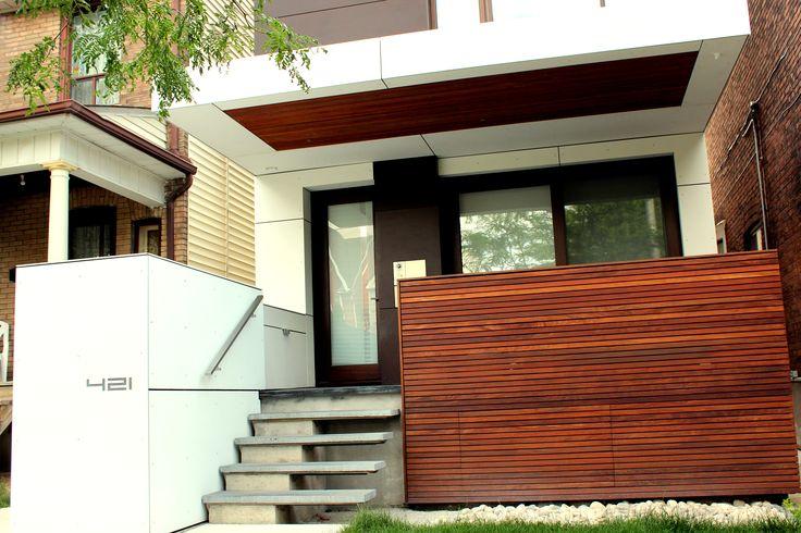 Residence in Toronto   Architect: Giannone Petricone   Product: Equitone Fibre Cement   Natura Pro Cream White (NU154)   #brilliantbuildings