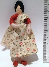 Vintage Dolls house 1970's Halfpenny Lady Sari Bendable Doll Figure Lundby Size