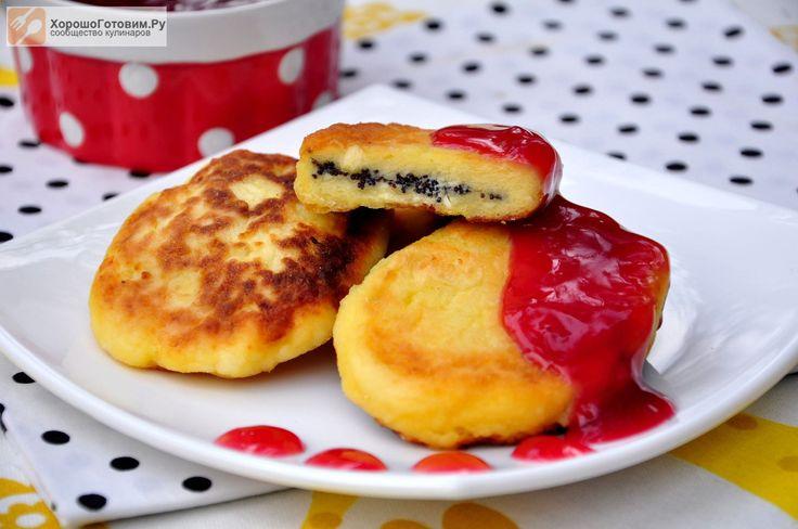 Сырники с маком и вишневым соусом  Автор: Людмилa Семенюк