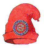 Die phrygische Mütze - auf Französich einfach bonnet rouge und auf Deutsch oft Jakobinermütze genannt - ein Symbol der französichen Revolution. Diese Kappe hier trägt zudem eine Trikolore, das Symbol der ersten französischen Republik