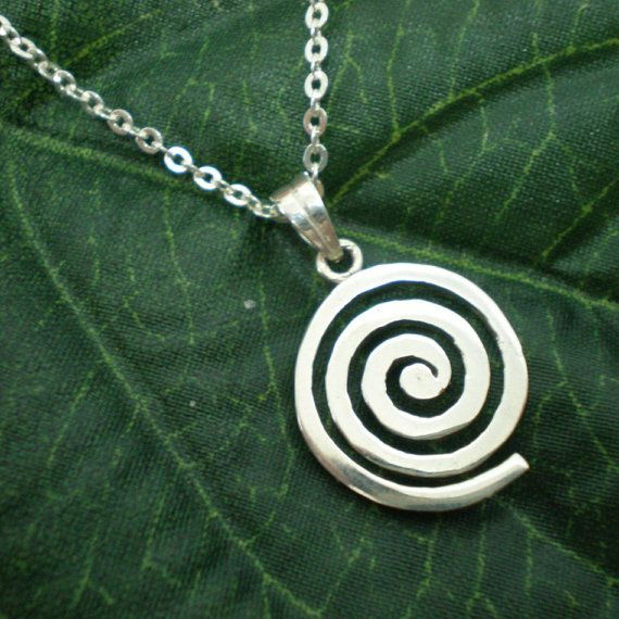 Celtic Symbol Single Spiral Necklace Pendant  Ancient by yhtanaff