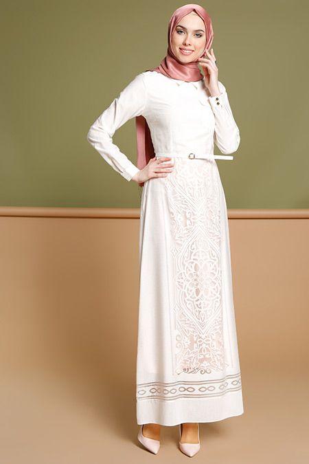 Puane Ekru Kemerli Elbise 179.90 TL  http://alisveris.yesiltopuklar.com/puane-ekru-kemerli-elbise-4.html