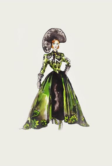 Sandy Powell's costume design for Cate Blanchett, who portrays the stepmother in Disney's live-action feature CINDERELLA