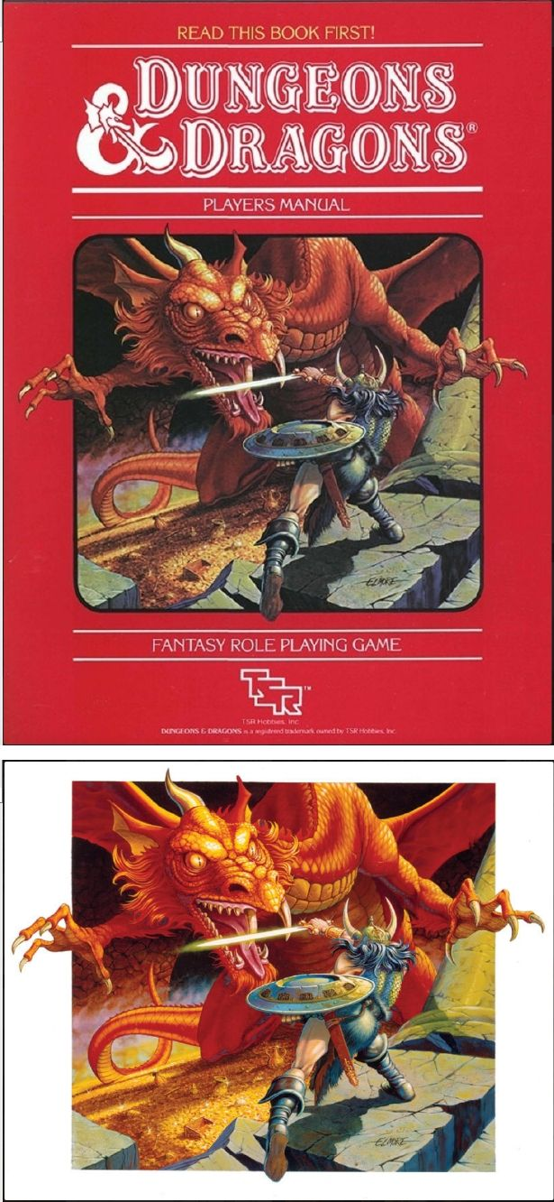 LARRY ELMORE - Dungeons & Dragons Players Manual by Gary Gygax & Dave  Arneson - 1983