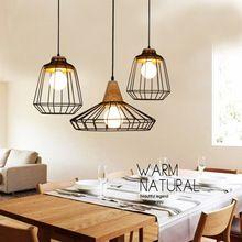 Retro Loft Lustre enciende Vintage Industrial jaula colgante Bar lámparas…