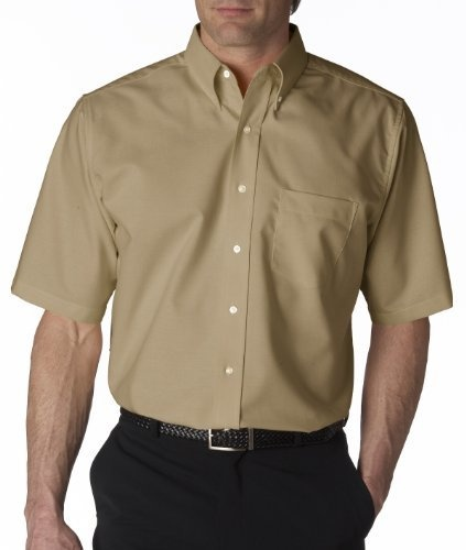 UltraClub Mens Classic Wrinkle-Free Short-Sleeve Oxford. 8972 - XXXXXX-Large - Tan UltraClub,http://www.amazon.com/dp/B004225908/ref=cm_sw_r_pi_dp_tD2RrbD174B24A90