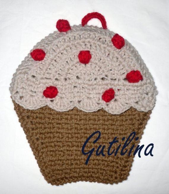 Agarradera CUPCAKE - Crochet - Tejidos de Punto - 14762