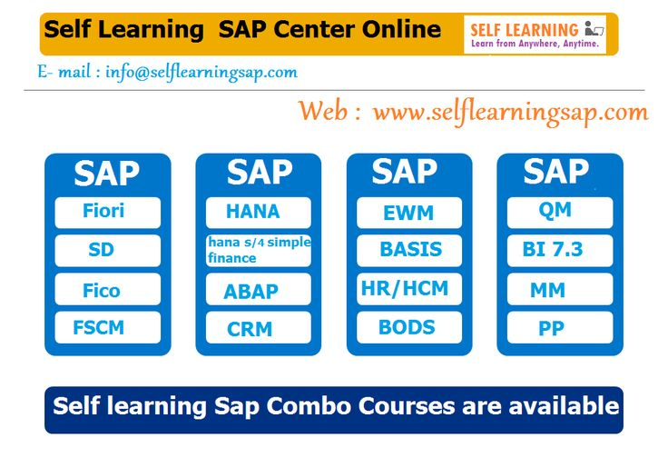 Learn Any SAP Courses  Video's Available in SELF LEARNING SAP Center.  http://www.selflearningsap.com