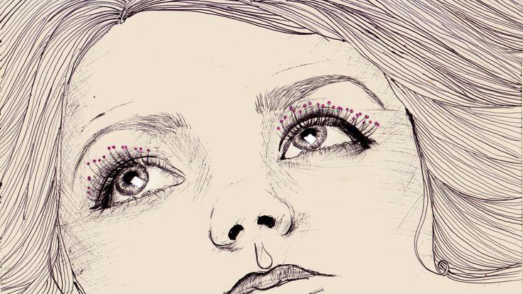 look illustration hand drawing