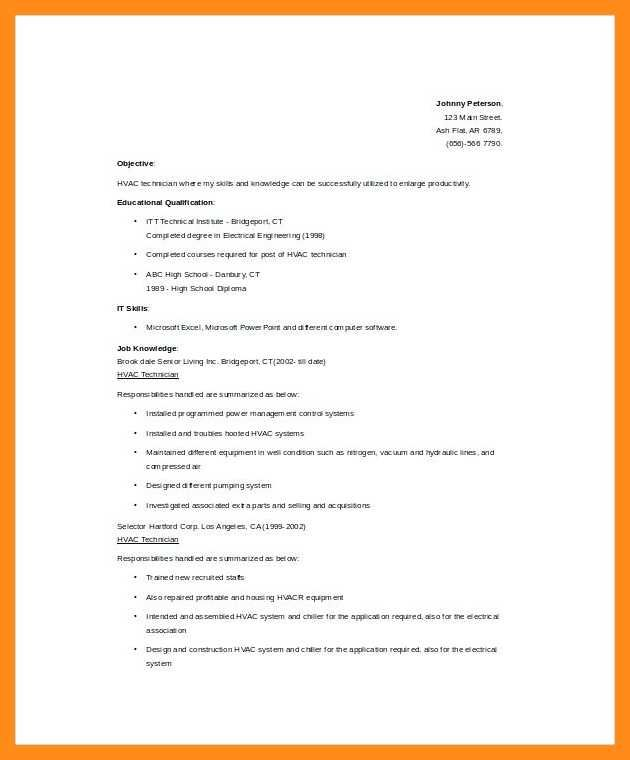 Air Conditioning Technician Resume Air Conditioning Technician Resume Ac Technician Resume Example Bestsampleresume Airconditioning System Is The Best Invent