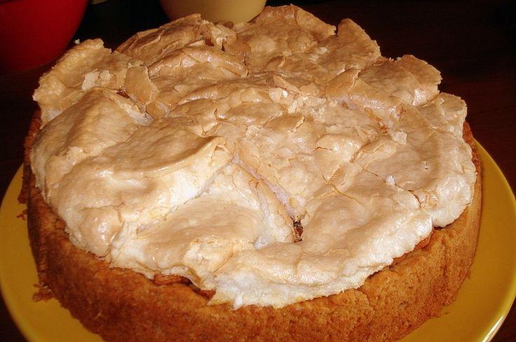 Пирог с безе сверху рецепт с фото