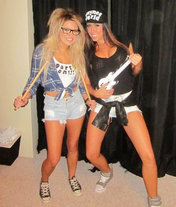 Sexy Wayne and Garth!! Waynes world Halloween costume :)