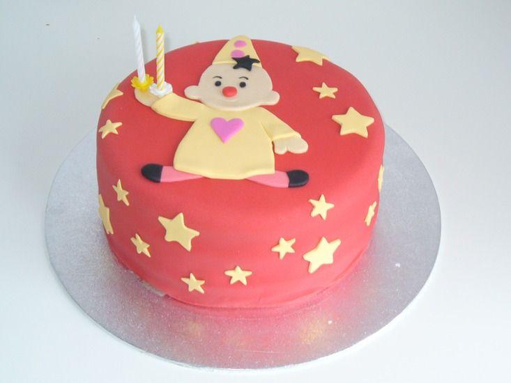 """cute """"bumba"""" clown cake, 2nd birthday Bumba taart"""