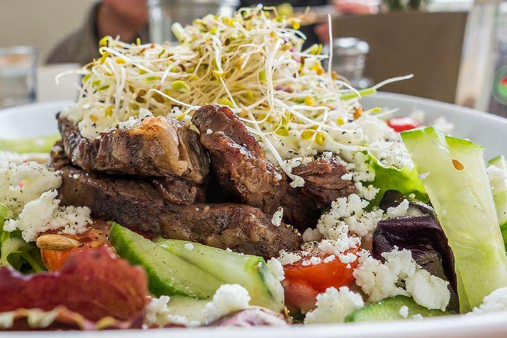 Skirt steak salad, @thebeetcafe, The Junction, Toronto #junctionTO