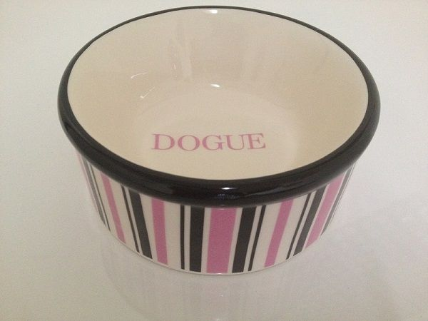 Pink Dogue Striped Bowl