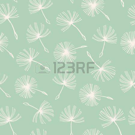 Seamless doodle dandelion Vintage background.. Eps-8