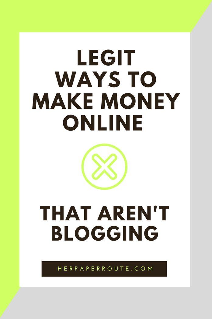 Legit ways to make money online - non blogging - ways to make money - wahm sahm work online make money from home - Real Ways To Make Money Online With Minimal Effort - Social Media - Social Media Marketing   www.herpaperroute.com