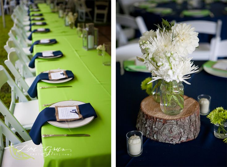 Navy & green is a great graduation party palette. Or wedding. Where have I seen this before?