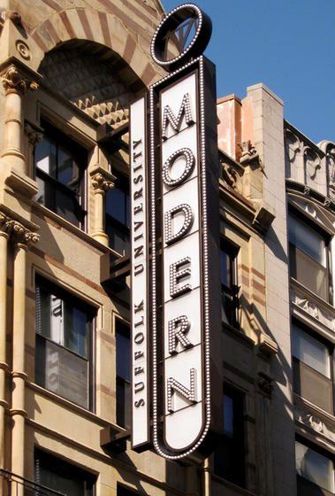 Modern Theatre, Suffolk University, Boston MA, Marquee Sign