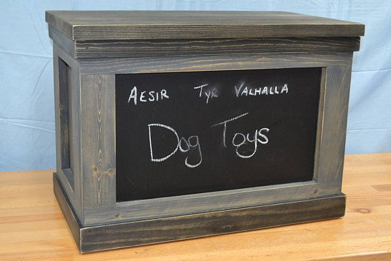 Hey, I found this really awesome Etsy listing at https://www.etsy.com/listing/539571295/rustic-dog-toy-box-farmhouse-dog-toy-box
