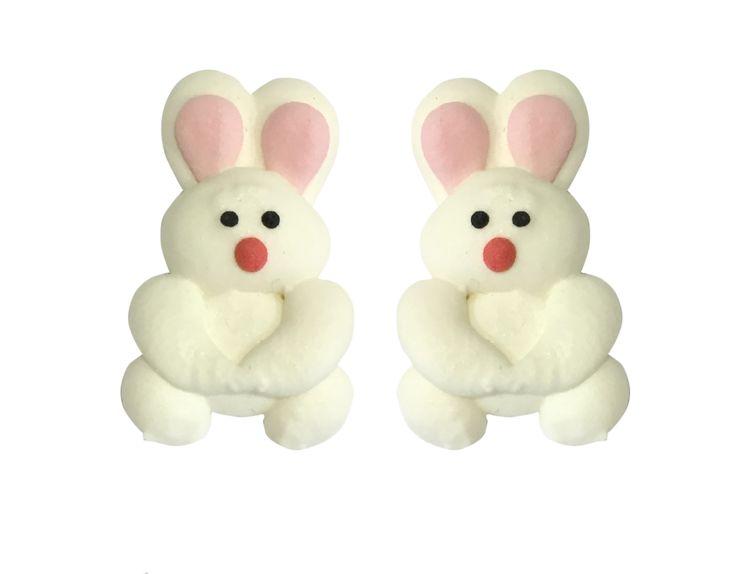 Flat sugarcraft bunny for decoration.