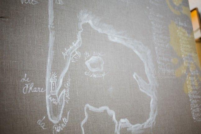 plan de table géographique mariage au Cap Ferret