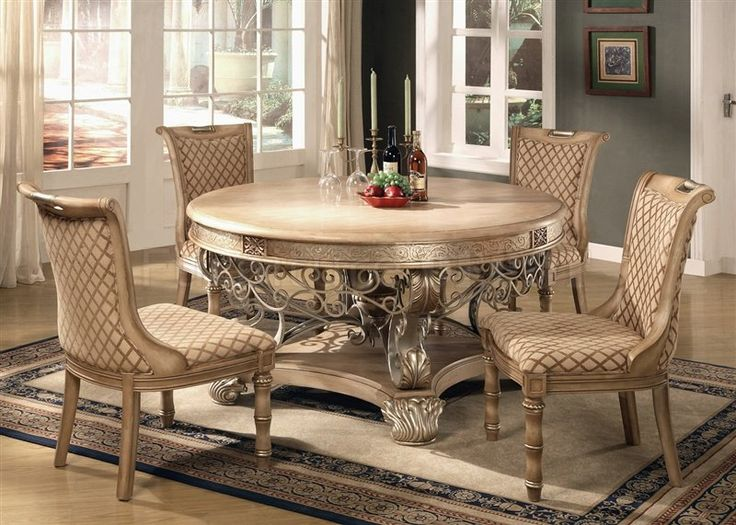Dining Set Of 9 | Light Brown Finish Traditional 5Pc Dining Room Set  W/Options Part 9