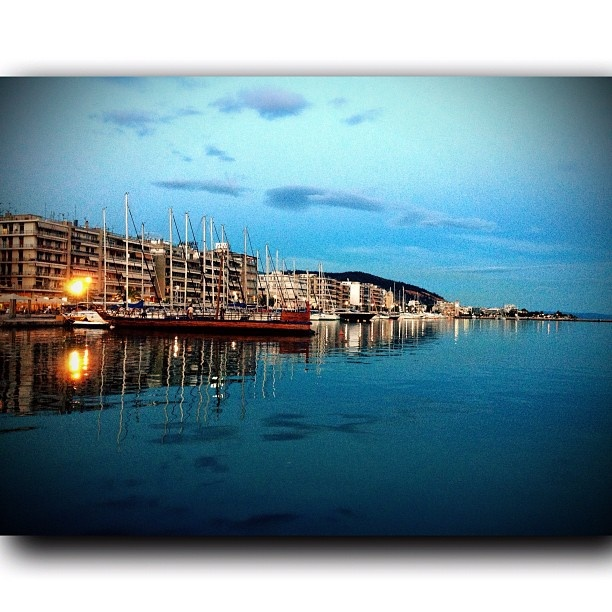 Volos , after sunset....
