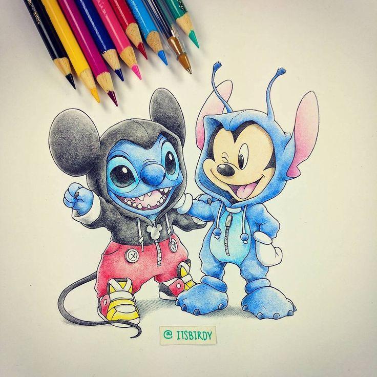 Mickey and Stitch