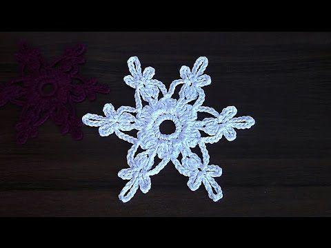 VERY EASY Сrochet snowflake Tutorial - YouTube