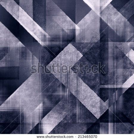 art abstract colorful geometric pattern; tiled background in blue color - stock photo