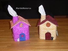 Tutorial on making tissue cover houses. Lot of pictures!