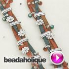 Jewelry DIY Tutorial - Videos: How to Make the Braided Bouquet Bracelet with Rivets and #Leather Like Cork Cord | Beadaholique