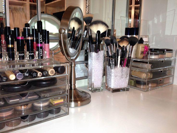 Makeup Hair Table Makeup Storage Bedroom Organizations Ideas Makeup