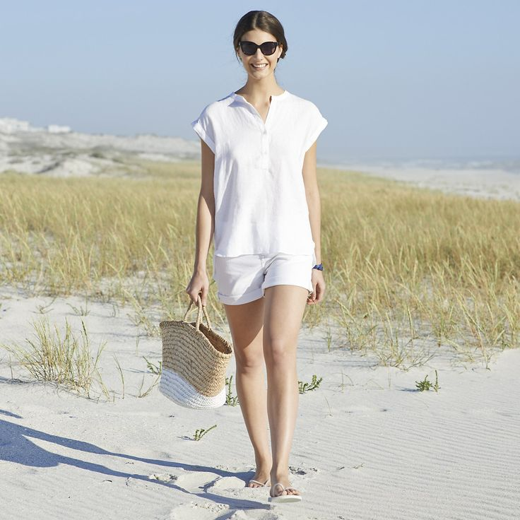 Relaxed Linen Blouse | The White Company US