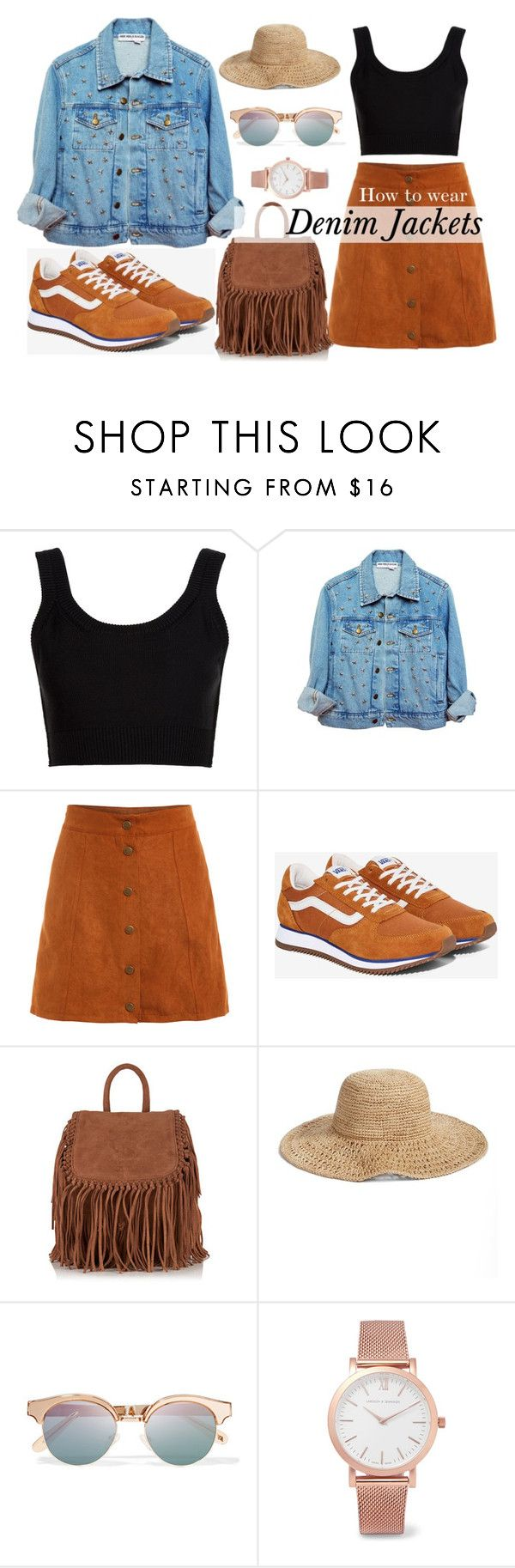 """Denim Jackets"" by ayuhariyani on Polyvore featuring Calvin Klein Collection, High Heels Suicide, Vans, Superdry, Nordstrom, Le Specs, Larsson & Jennings, denim, sneakers and denimjackets"