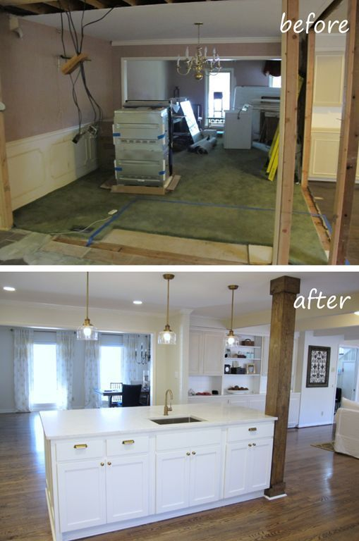 live the home life before and after kitchen island wall removal – #Home #island …