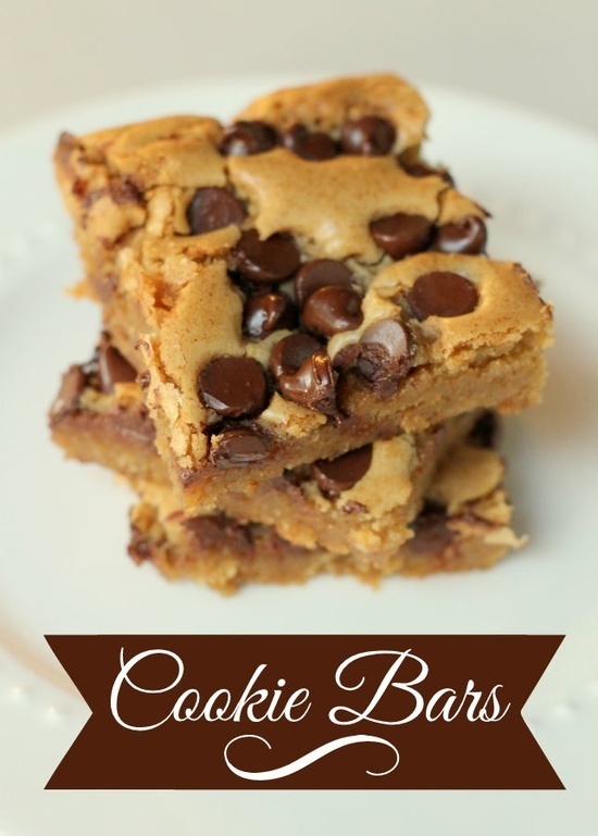 The BEST Cookie Bars Ever!! These pan chewies melt right in your mouth. YUM!!