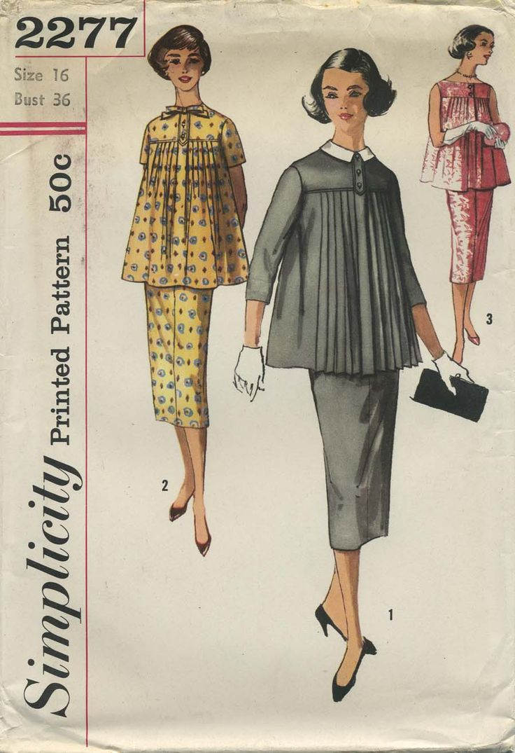 12 best my vintage maternity sewing patterns images on pinterest simplicity 2277 vintage sewing pattern maternity skirt and blouse size 12 ombrellifo Images