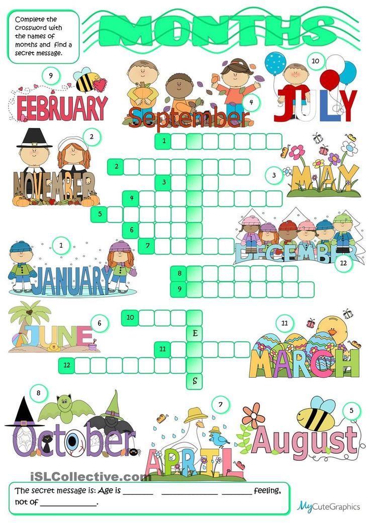 Months - crossword