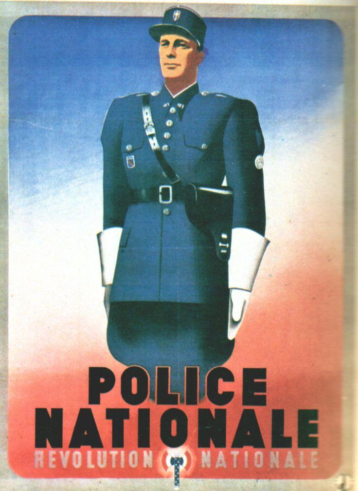 Ressources histoire Affiches politiques 1939-1945 - Abrupt - Police nationale Révolution nationa